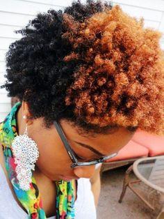 two~tone hair