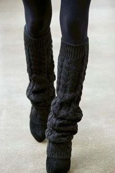 Leg warmers + heels.