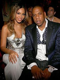 Beyonce Knowles and Shawn Carter