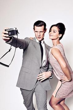 forgivenalwaysandcompletely: Doctor Who's Matt Smith, new assistant Clara and why they're wearing Prada Plus behind the scenes for the photo shoot {x}