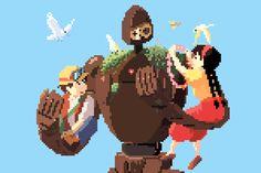 8-bit Ghibli by Richard J. Evans