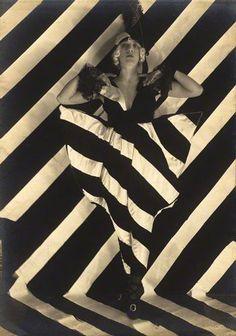 Yvonne Gregory. Bertram Park 1919. #stripes