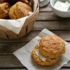 """""""These biscuits are heavy on sweet potato flavor and buttery flakiness. And they are only slightly sweet, making them perfect for both sweet and savory applications. Top them with butter and jam for breakfast, or serve them alongside a soup or casserole."""" - Annalise from Completely Delicious"""