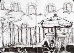 Bryant Park Fall Festival by Mia bryant park, park artwork, park fall