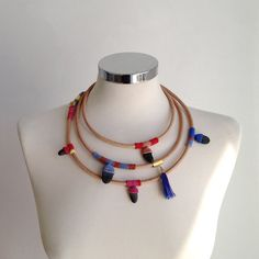 leather necklace wrap by kjoo on Etsy, $180.00