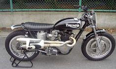 Brat Style Triumph 650 flat tracker