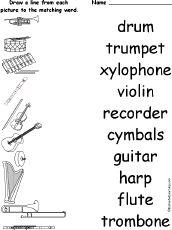 FREE Printable Music Worksheets at EnchantedLearning.com
