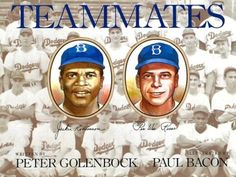 Describes the racial prejudice experienced by Jackie Robinson when he joined the Brooklyn Dodgers and became the first black player in Major League baseball and depicts the acceptance and support he received from his white teammate Pee Wee Reese.