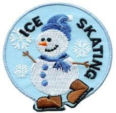 Ice Skating Fun Patch