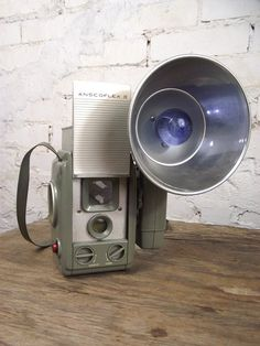 1950's Ansco Anscoflex II TLR Camera with Flash and Case