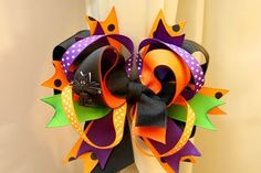 (How to make a stacked boutique hair bow) ~TUTORIAL~