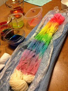 Yarn Dyeing...