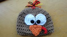 Turkey Beanie Thanksgiving Fall Crochet Baby by LittlestYarnShop, $12.00