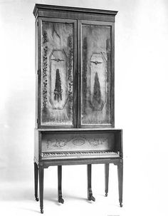upright cabinet piano, 1801, england