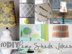 a variety of diy lampshades