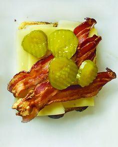 Cheddar, Bacon, and Pickles on Sourdough @Wyatt Draggoo