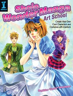 """Supittha """"Annie"""" Bunyapen's Shojo Wonder Manga Art School contaings great step-by-step demonstrations, tricks and techniques for coloring with Copic and other artist-grade markers."""