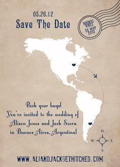 Destination Wedding Save the Date Cards,  Go To www.likegossip.com to get more Gossip News!