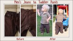 men's jeans to toddler pants tutorial