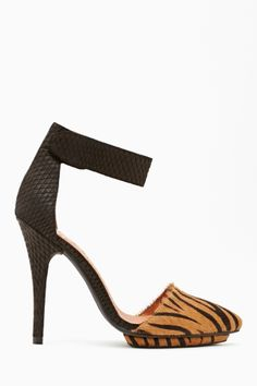 Solitaire Platform Pump in Tiger by #JeffreyCampbell