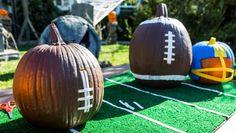 Mark & @cristinacooks make Football Pumpkin Centerpieces on #homeandfamily! #homeandfamilytv