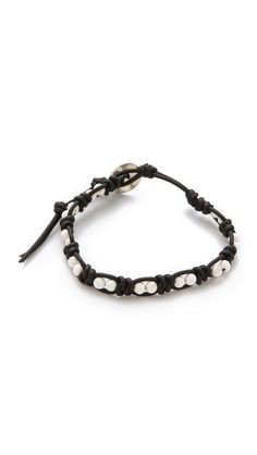 Leather knotted bracelet