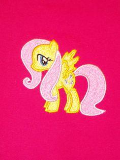 fluttering horse  appliqued tshirt by weluvdizne on Etsy, $19.00