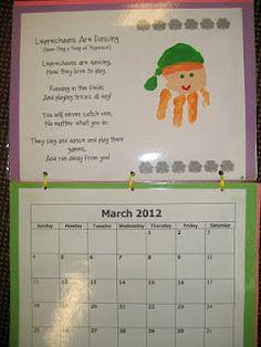 Handprint Calendar on Pinterest | Calendar, Poems and November