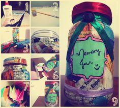 My memory jar. More here: http://algumasobservacoes.blogspot.com/2013/01/101-coisas-em-1001-dias-memory-jar.html