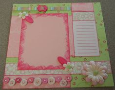 8 x 8 Baby Pink & Key Lime Layout by jenniewren - Cards and Paper Crafts at Splitcoaststampers