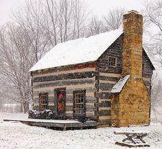 Tiny Christmas home.