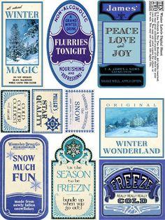 Winter Labels