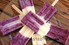 Blueberry Vanilla Yogurt Popsicles
