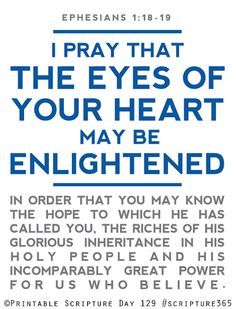 Open the eyes of my heart, Lord! Day 129 #scripture365