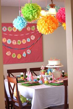 colorful party decor