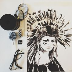 Native Woman  A4 print by Henneberg on Etsy, $35.00
