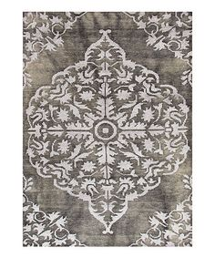 """""""Gray & Black Transitional Gradation Knotted Wool Rug by Jaipur Rugs on #zulily"""". Beautiful print."""