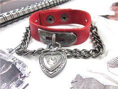 Bangle leather bracelet buckle bracelet men by braceletbanglecase, $8.50