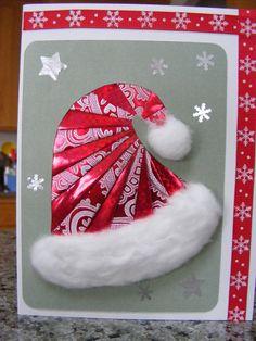 Iris folded Santa hat Next year...............