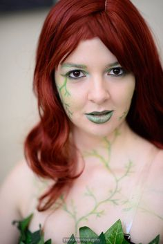 Poison Ivy cosplay. Costume makeup. Theater make up. Batman.