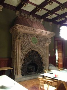 Fireplace in Vinçon Furniture store at Barcelona, Spain.   Catalonia