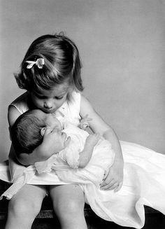 Caroline and John Kennedy Jr.