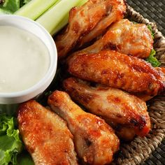 Oven-baked chicken wings..