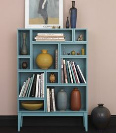 This bookcase is very cool.