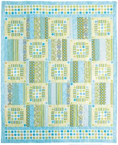 Ocean Breeze quilt by Jean Nolte, with blues and greens that are fresh like spring!  Get the free pattern: www.freequiltpatterns.info/quilt-pattern-designer---jean-nolte---ocean-breeze.htm
