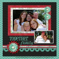 Family Digital Scrapbook Layout  #digitalscrapbooking #scrapbooking