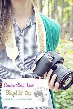 DIY Sequin Camera Strap