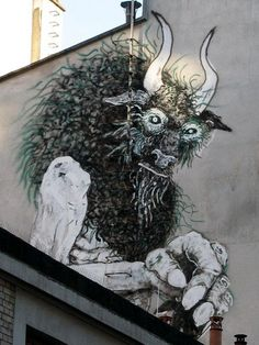Paris graffiti and street artist Bonom  street art 000