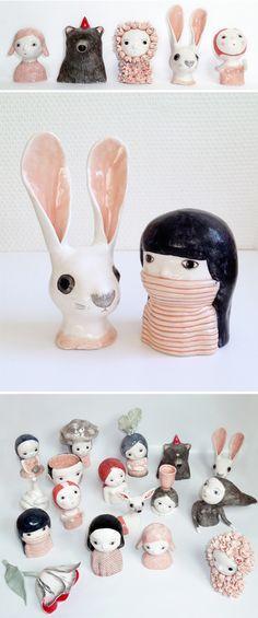 nathalie choux ceramics. Aah! Cute!