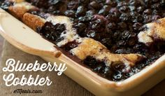 Blueberry Cobbler #eMealsBakes